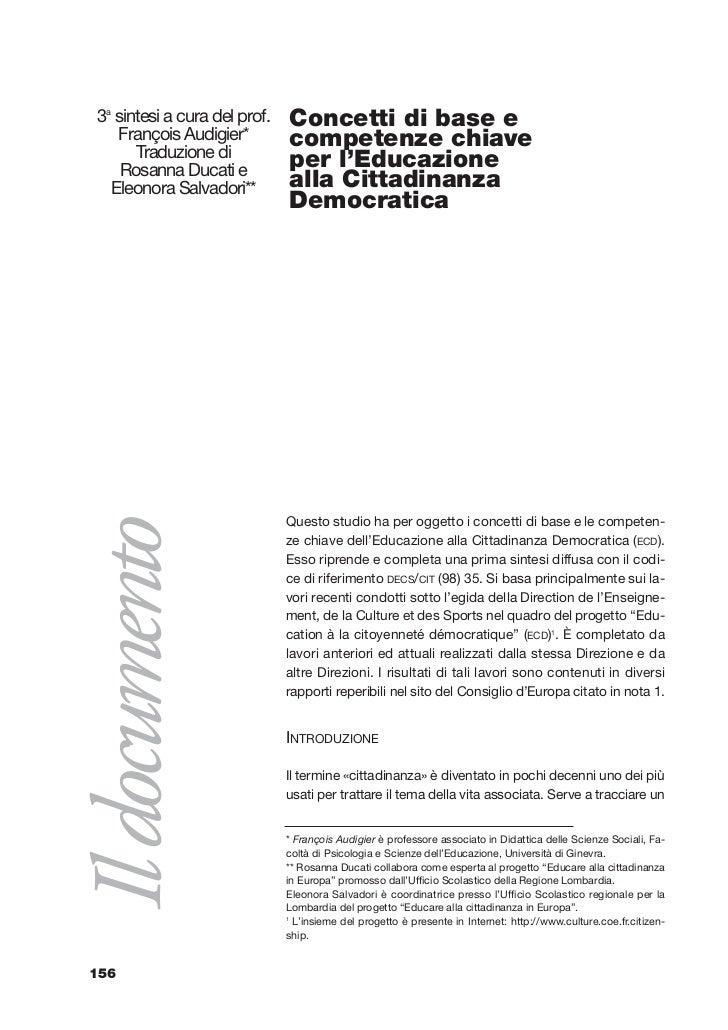 11-Documento Audigier   7-02-2003   17:47    Pagina 156            3a sintesi a cura del prof.   Concetti di base e       ...
