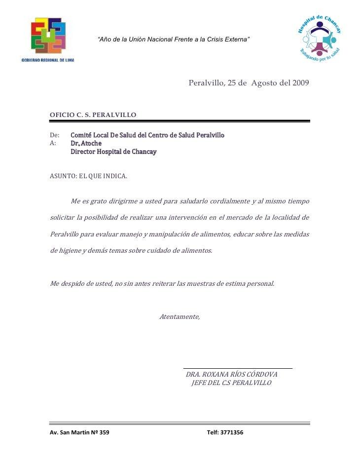 Peralvillo, 25 de  Agosto del 2009<br />OFICIO C. S. PERALVILLO<br />De: Comité Local De Salud del Centro de Salud Peralvi...