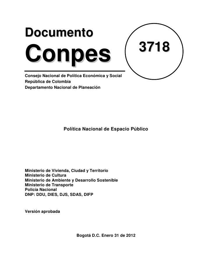 Documento                                                        3718ConpesConsejo Nacional de Política Económica y Social...