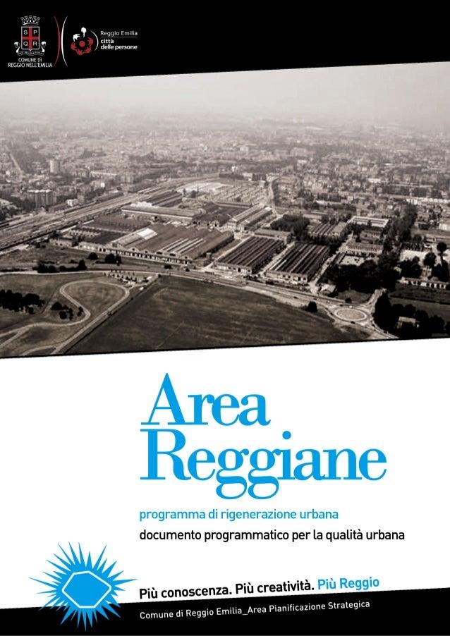 PROGRAMMA DI RIGENERAZIONE URBANA_area reggiane documento programmatico per la qualità urbana