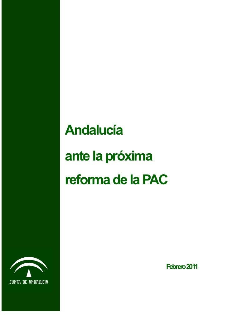 Consejería de Agricultura y Pesca                                        Andalucía                                        ...
