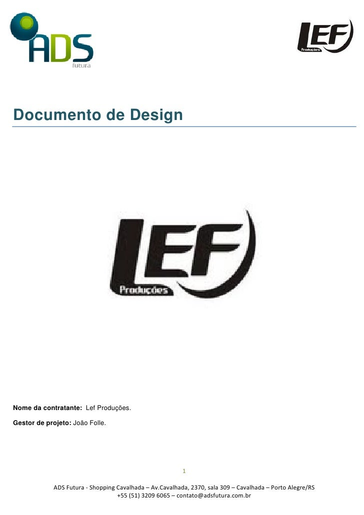 Documento de design