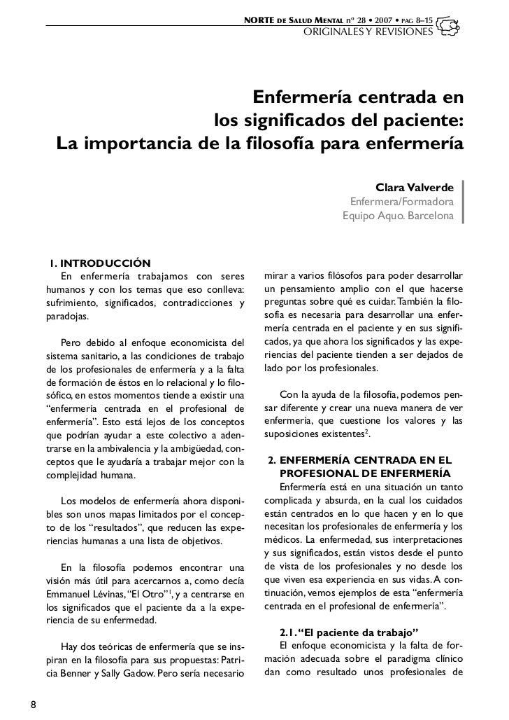 NORTE   DE   SALUD MENTAL nº 28 • 2007 • PAG 8–15                                                                    ORIGI...