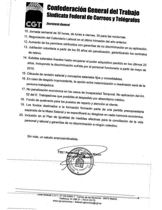 l i  . — ia Dublin 7 — Campo de las Naciones Ézaozo Madrid.  A Teléfonos:  91 596  31 -— RICO 23176 wwwcgtes/ correos — fe...