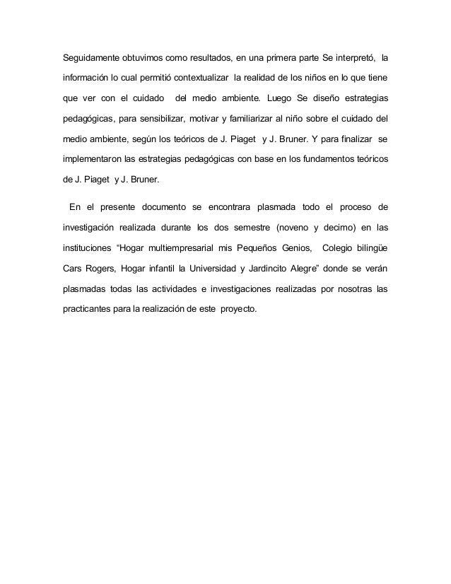 """ESTADO DE ARTE  Investigación número uno  AUTOR: María Guadalupe Velásquez Franco  TEMA: """"La Educación ambiental en el Niv..."""
