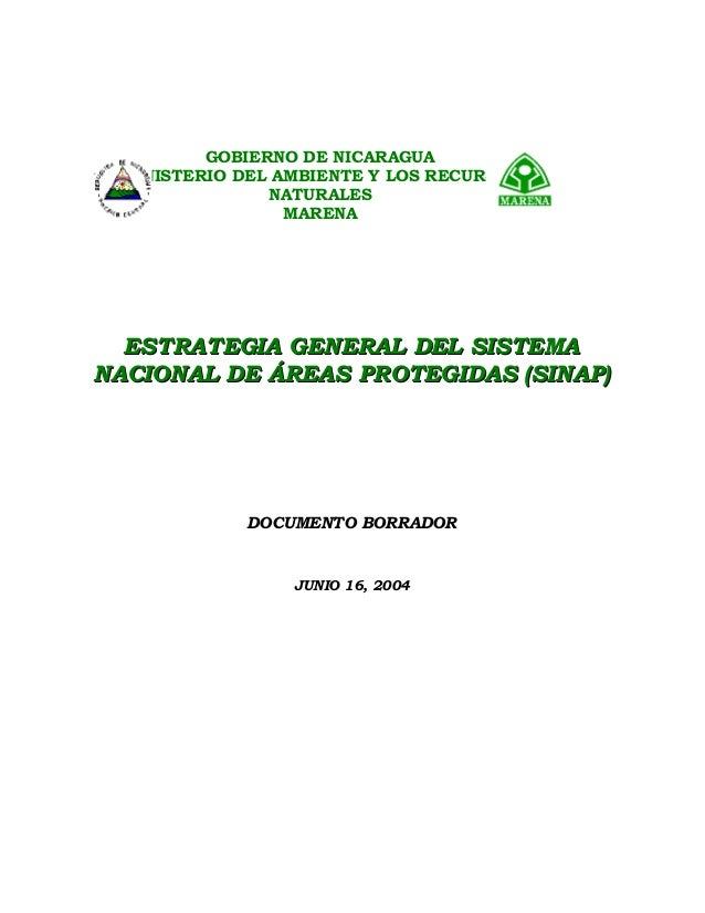 ESTRATEGIA GENERAL DEL SISTEMAESTRATEGIA GENERAL DEL SISTEMA NACIONAL DE ÁREAS PROTEGIDAS (SINAP)NACIONAL DE ÁREAS PROTEGI...