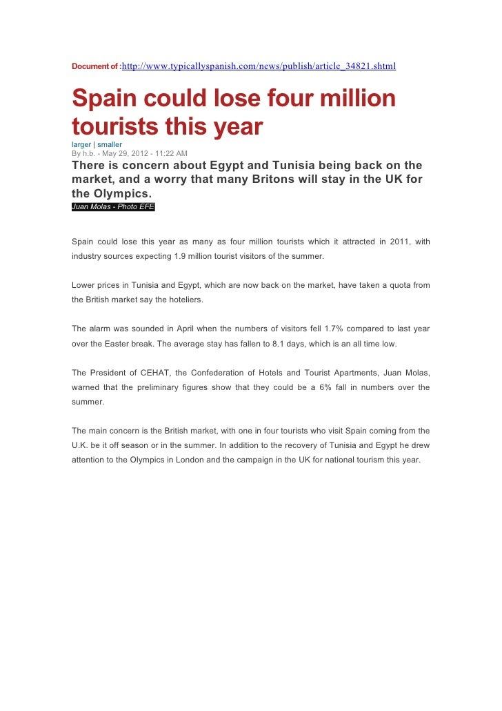 Document of :http://www.typicallyspanish.com/news/publish/article_34821.shtmlSpain could lose four milliontourists this ye...