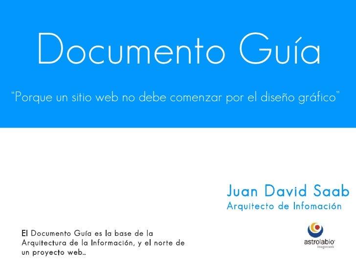 """Documento Guía """"Porque un sitio web no debe comenzar por el diseño gráfico""""                                               ..."""
