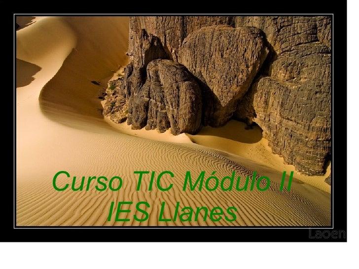 Curso TIC Módulo II IES Llanes