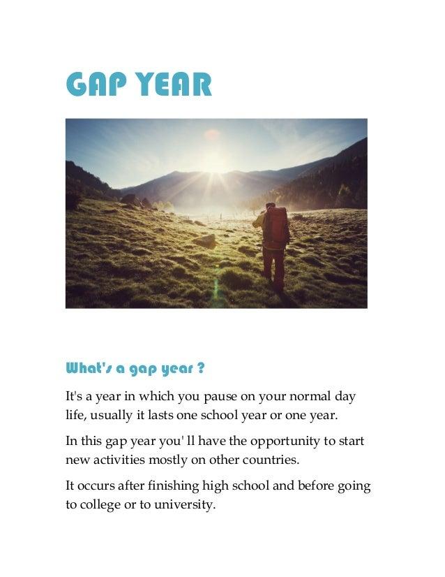 Gap year essay