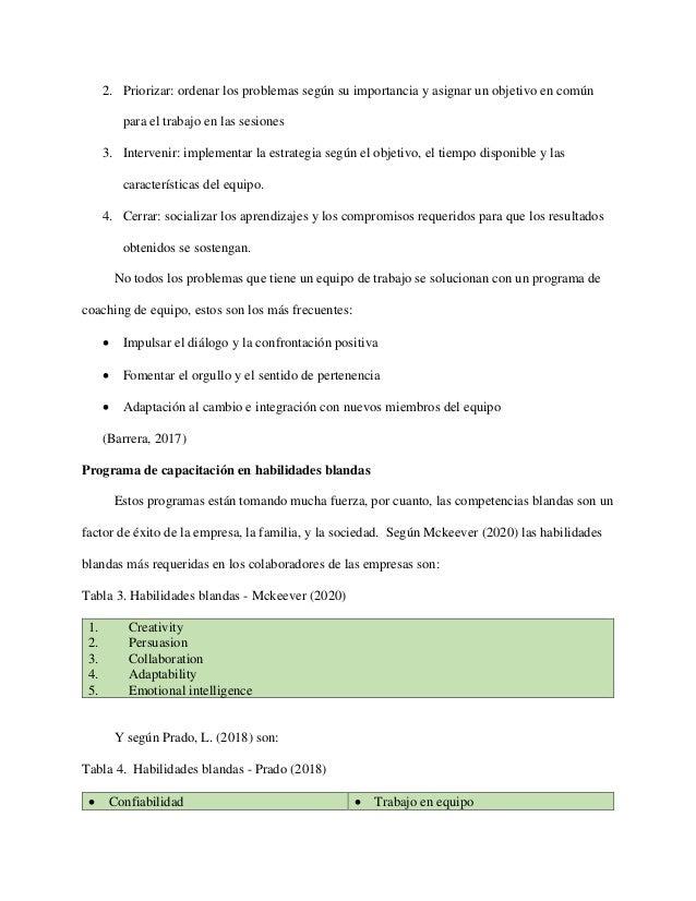 2. Priorizar: ordenar los problemas según su importancia y asignar un objetivo en común para el trabajo en las sesiones 3....