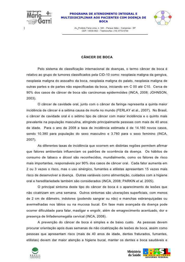 PROGRAMA DE ATENDIMENTO INTEGRAL E                        MULTIDISCIPLINAR AOS PACIENTES COM DOENÇA DE                    ...