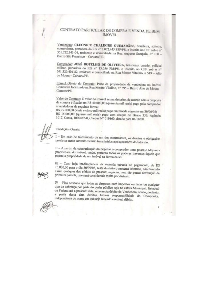 Alto do Moura: Documentos apresentados pela Frente Popular