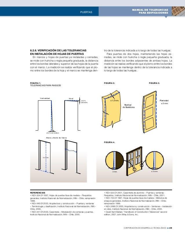 manual de tolerancias para edificaciones 2013 camara