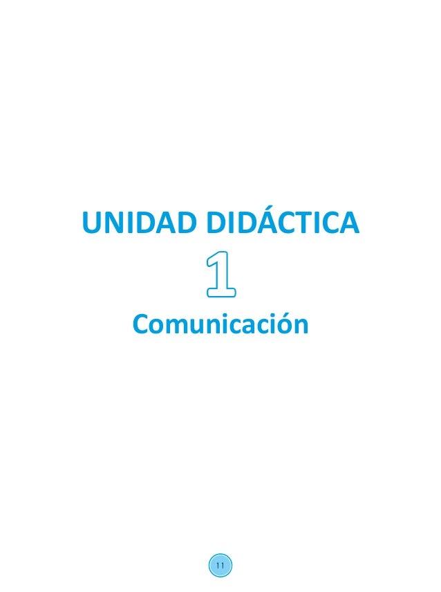 11 UNIDAD DIDÁCTICA Comunicación 1