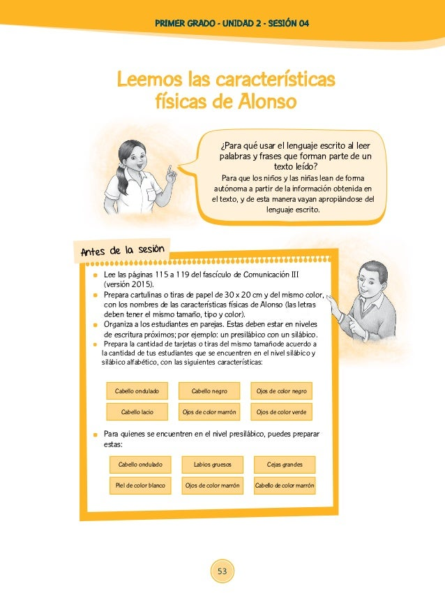 Leemos las características físicas de Alonso Para que los niños y las niñas lean de forma autónoma a partir de la informac...