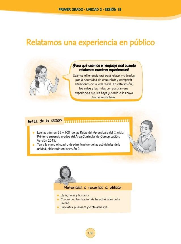 Relatamos una experiencia en público  Lápiz, hojas y borrador.  Cuadro de planificación de las actividades de la unidad....