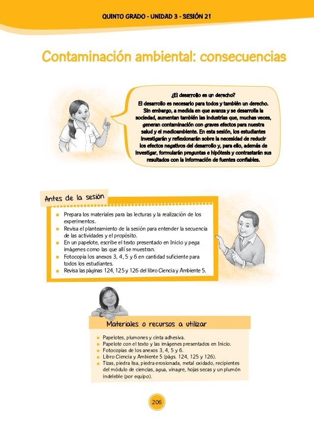Contaminación ambiental: consecuencias  Papelotes, plumones y cinta adhesiva.  Papelote con el texto y las imágenes pres...