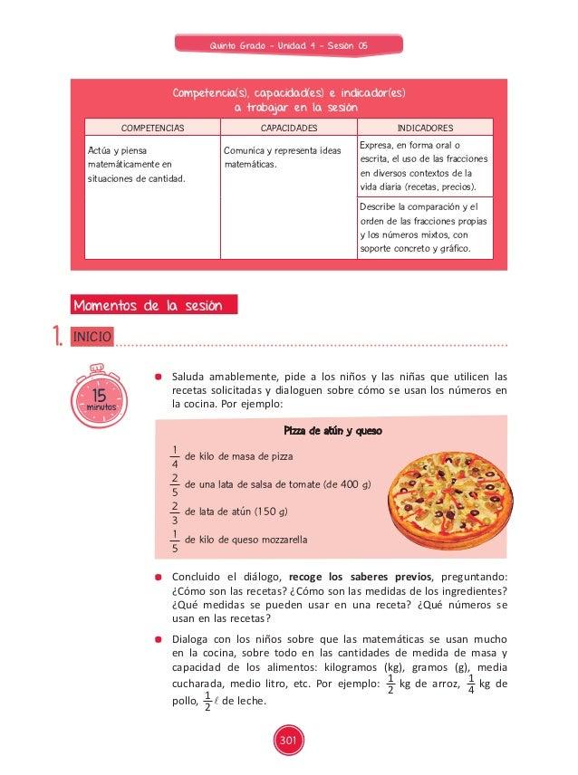 Documentos primaria sesiones unidad04 quinto grado - Grado en cocina ...