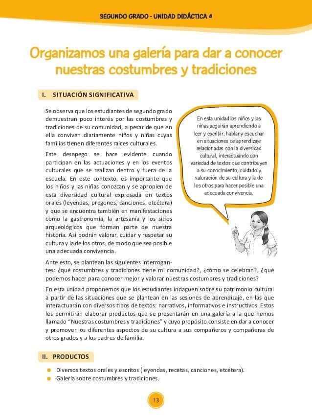Documentos primaria sesiones unidad04 segundo grado for Cocina tradicional definicion