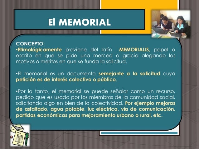 Formato memorial simple: