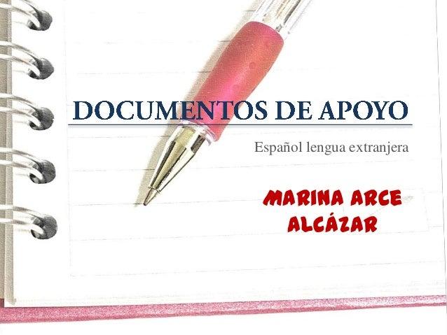 Español lengua extranjera Marina Arce Alcázar