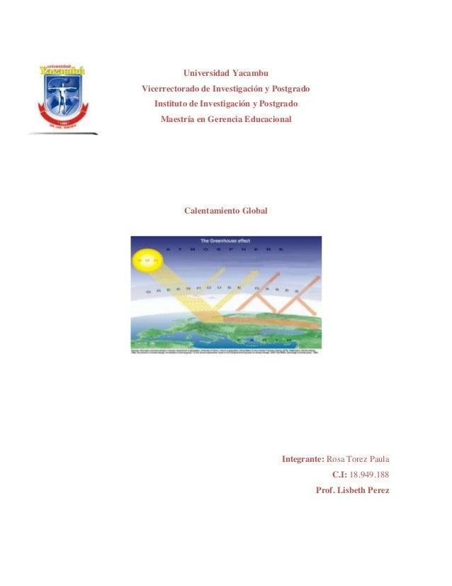 Universidad YacambuVicerrectorado de Investigación y Postgrado   Instituto de Investigación y Postgrado    Maestría en Ger...