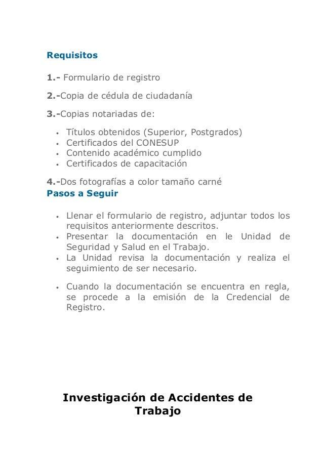 Documentos Ministerio De Trabajo Y Empleo
