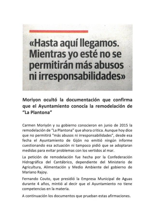"""Moriyón ocultó la documentación que confirma que el Ayuntamiento conocía la remodelación de """"La Plantona"""""""