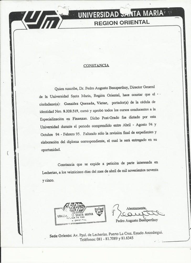 documentos soportes del curriculum vitae vctor j gonzlez q