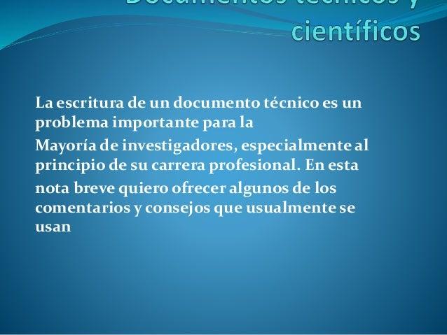 La escritura de un documento técnico es un problema importante para la Mayoría de investigadores, especialmente al princip...
