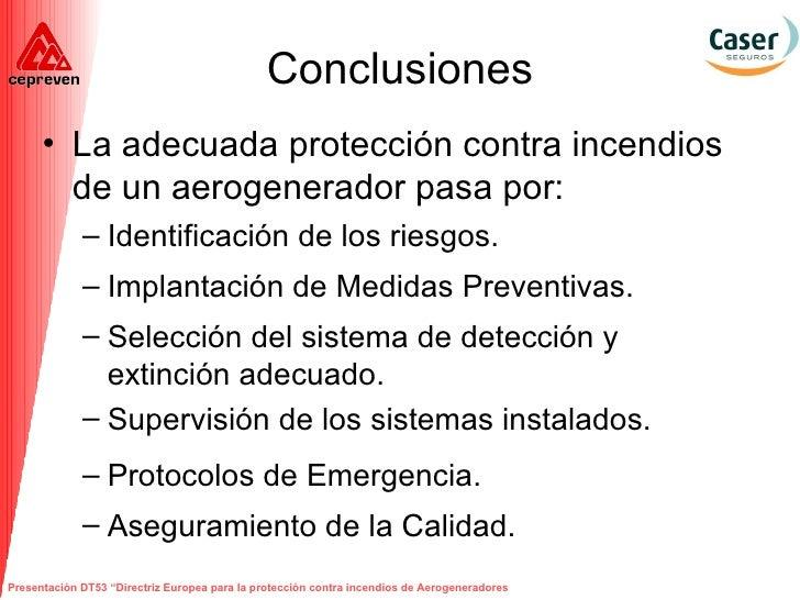 Protecci n contra incendios en aerogeneradores - Sistemas de seguridad contra incendios ...