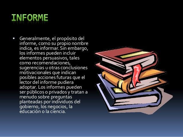  Formato  Los informes toman a menudo la estructura de una investigación científica: Introducción, Metas, Igualdades y D...