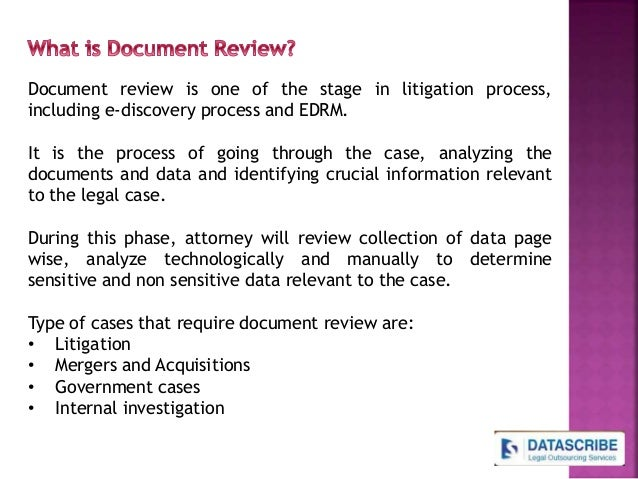 Legal Document Review Process And Services In India - Legal document review