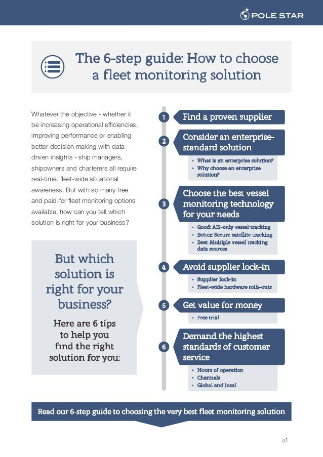 The 6-step guide: How to choose a fleet monitoring solution