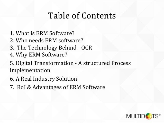 Going Digital - Paper to Electronic Record Management(ERM) System Slide 2