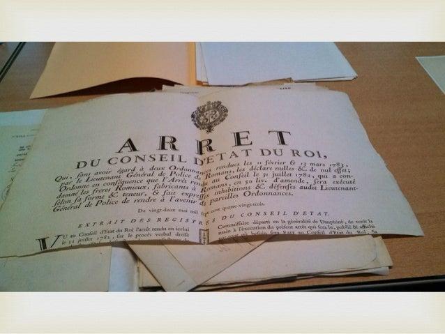 Documents d'archives