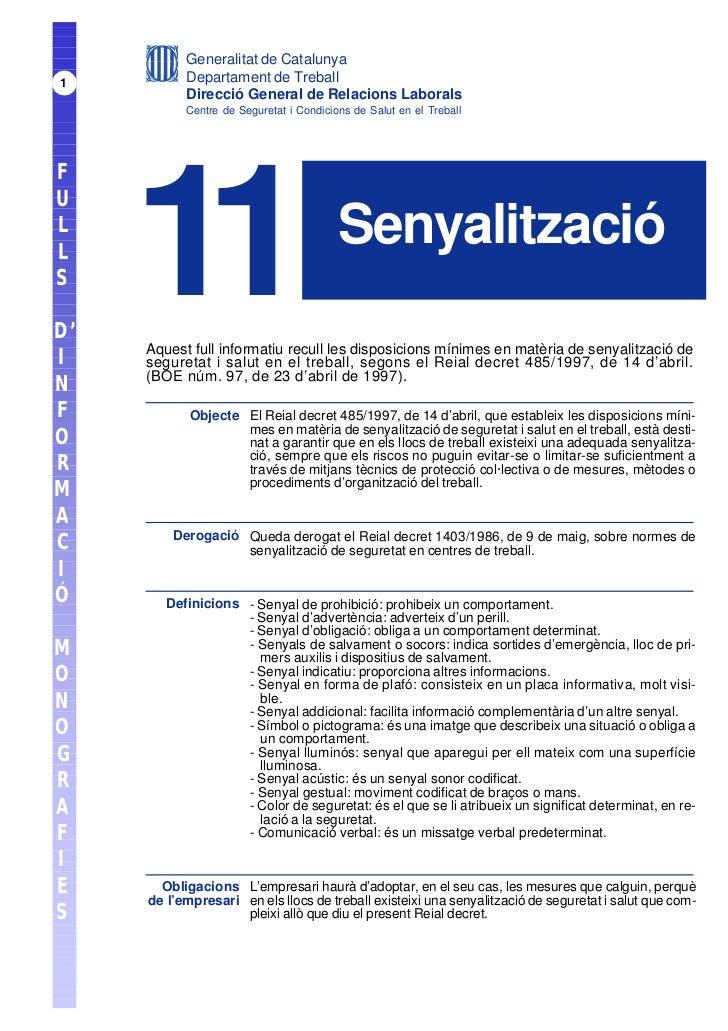 Generalitat de Catalunya1          Departament de Treball           Direcció General de Relacions Laborals           Centr...