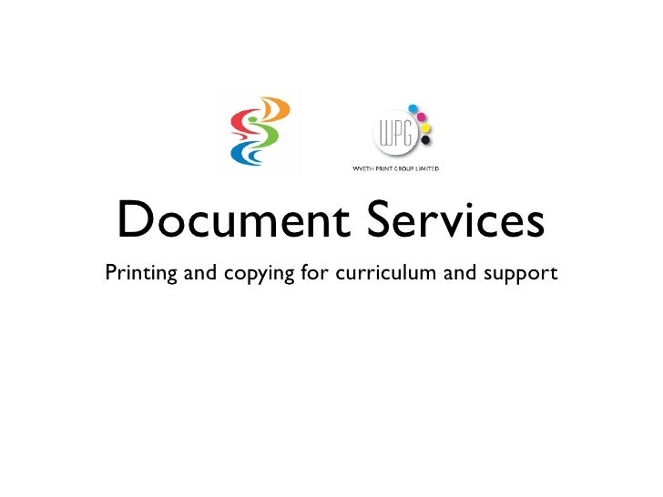 Document ServicesPrinting and copying for curriculum and support