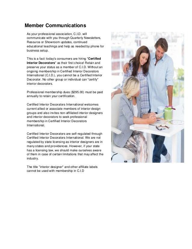 Certified interior decorators international for Certified interior decorator