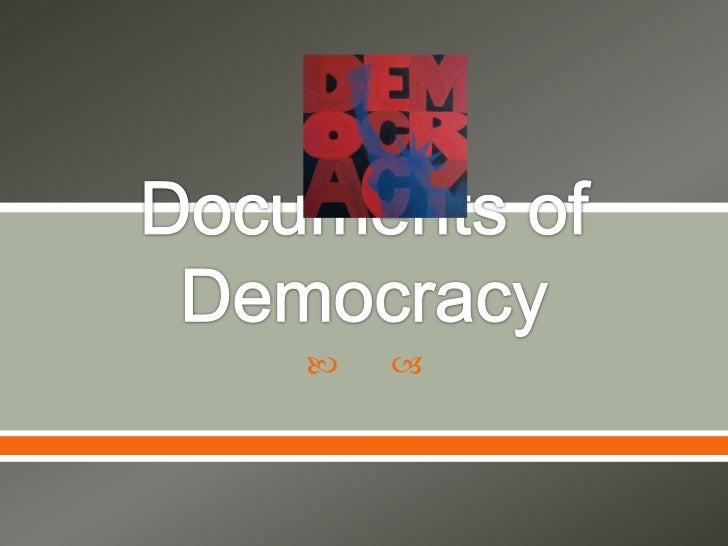Documents of Democracy<br />