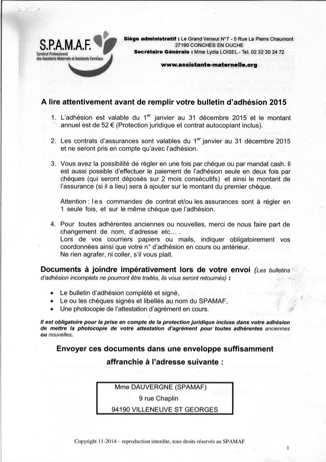 Document spamaf   syndicat professionnel