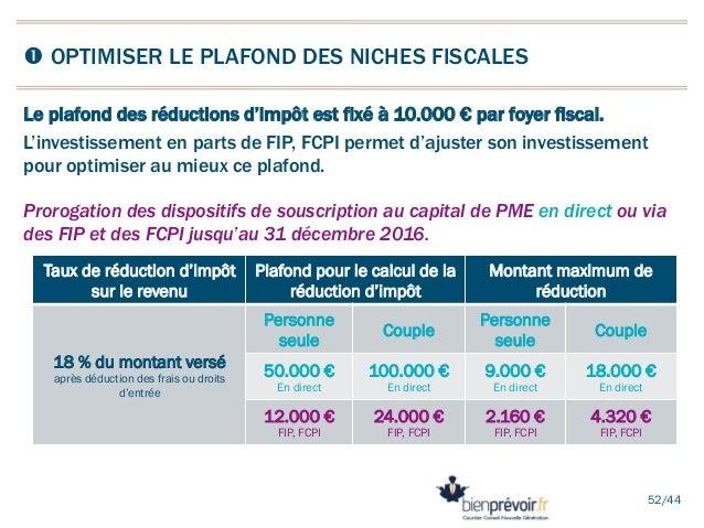 Conf rence perspectives fiscales 2014 du patrimoine - Plafond de deduction au titre de l epargne retraite ...