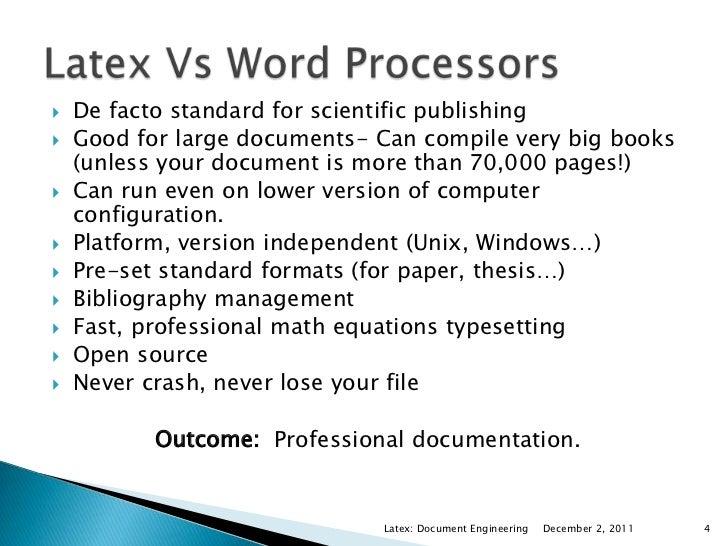document typesetting using latex