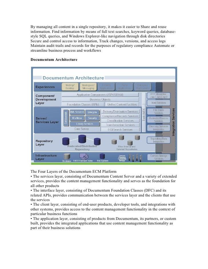 Documentum introduction