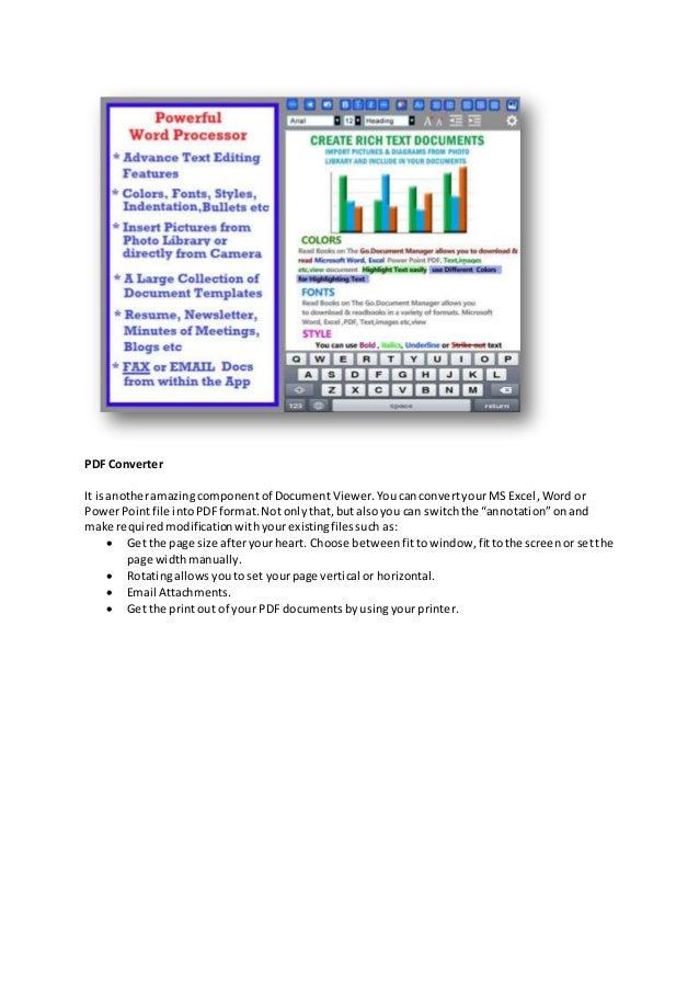 PDF Converter It isanotheramazingcomponentof DocumentViewer.Youcanconvertyour MS Excel,Word or PowerPointfile intoPDFforma...