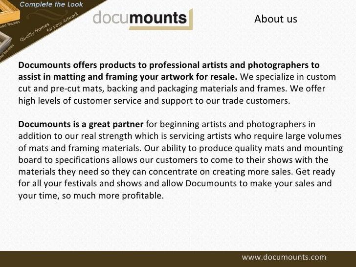 Documounts - Custom Cut Mats, Gallery Frames & Pre-Cut Mat