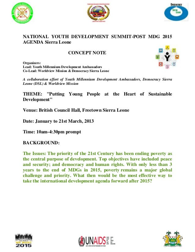 national development and youth All information related to registration to the high-level political forum on sustainable development is available here for more information, please.