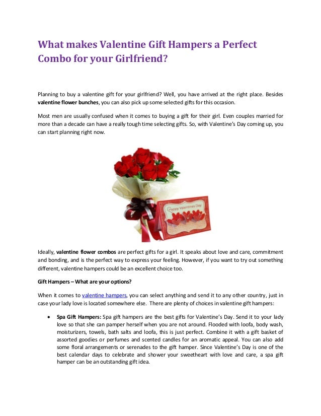What Makes Valentine Gift Hampers A Perfect Combo For Your Girlfriend