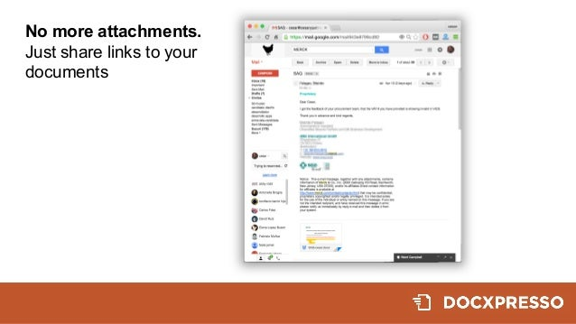 No more attachments. Just share links to your  documents